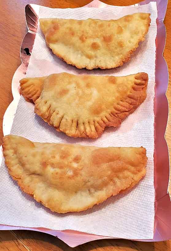 fried cheese and sauce stuffed dough called panzerotti