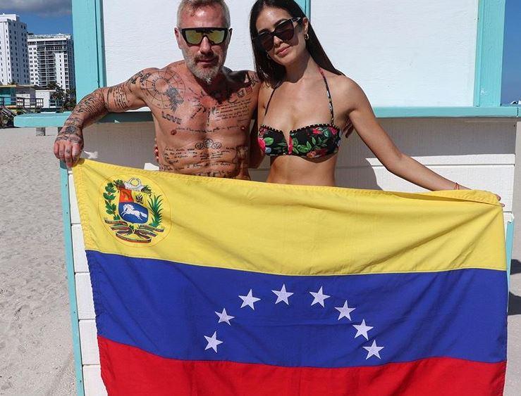 Gianluca Vacchi envió su apoyo al Presidente Juan Guaidó