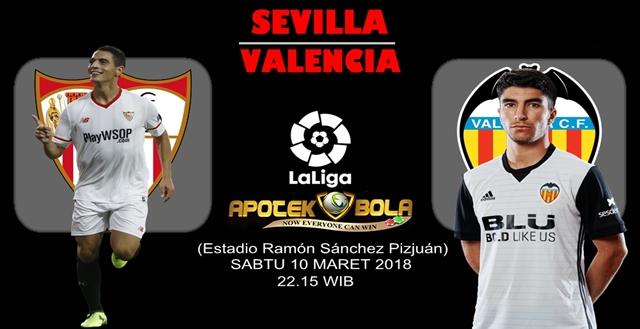 Prediksi Sevilla vs Valencia 10 Maret 2018
