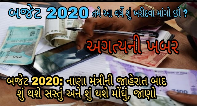 Budget 2020: Find out what will be cheaper and costlier after the announcement of the finance minister