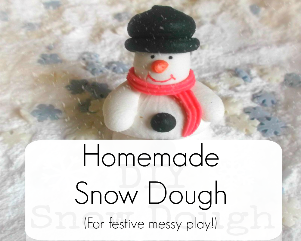 Homemade Messy Play Snow Dough