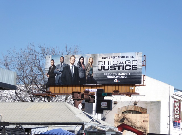 Chicago Justice TV series billboard