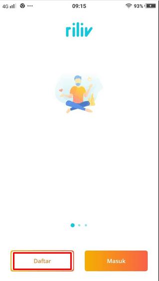 cara memakai aplikasi riliv android