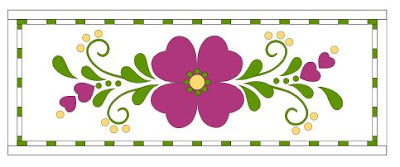 Spring Fling table runner in hot pink by QuiltFabrication