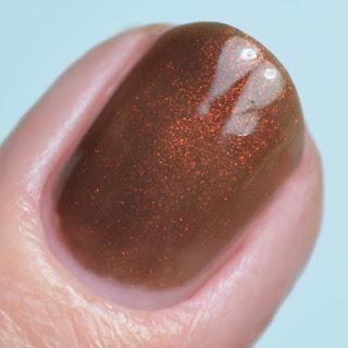 green brown unicorn pee nail polish