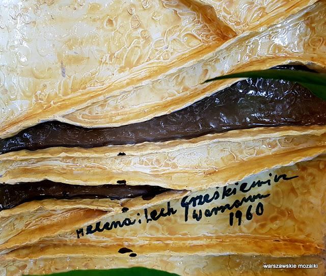 Warszawa Warsaw mozaika 1960 zachęta Helena Lech Grześkiewicz Marszałkowska 45/49 warszawskie mozaiki okładzina ceramiczna ceramika  u krawców