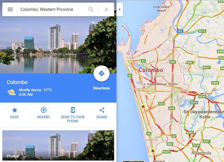 Google Live Traffic Updates Now Enabled For Sri Lanka Amisampath Com