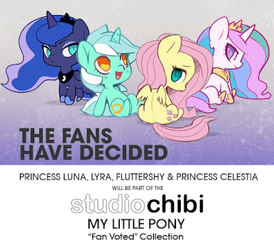 We Love Fine Chibi Figures Wave 2 - Lyra Luna Celestia Fluttershy