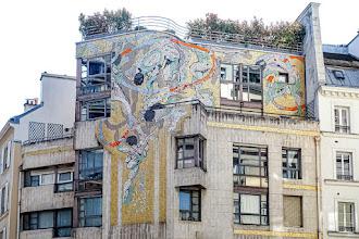 Paris : Mosaïque 17 rue du Renard, un décor signé François Fontaine - IVème