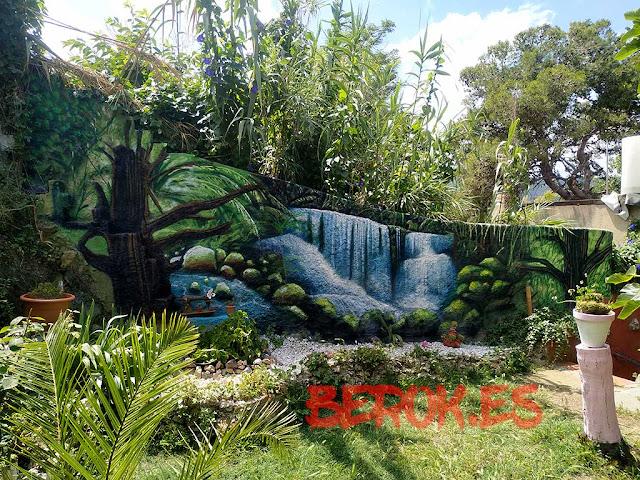 mural paisaje vegetación