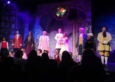 Cast on stage at Disney's Beauty and the Beast