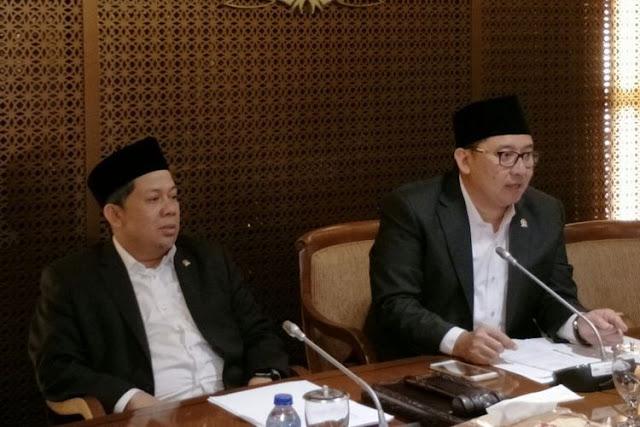 Fadli Zon Jadi Plt Ketua DPR Pasca Mundurnya Setya Novanto