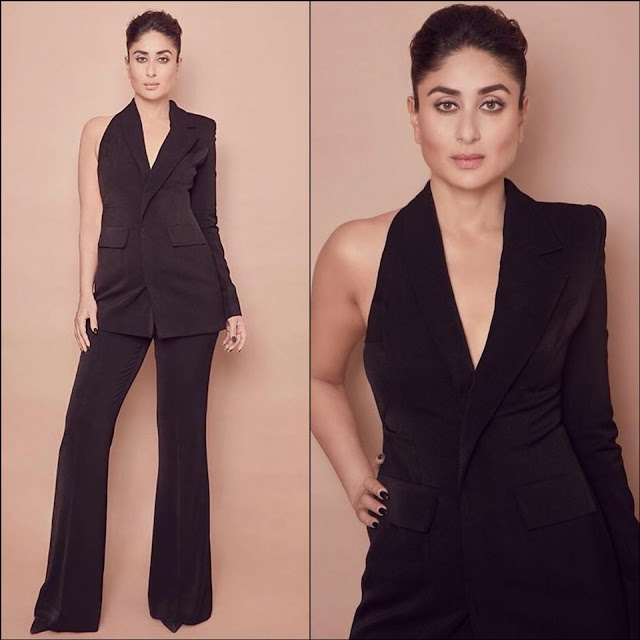 Kareena Kapoor Wears a Black Dress by Nikhil Thampi