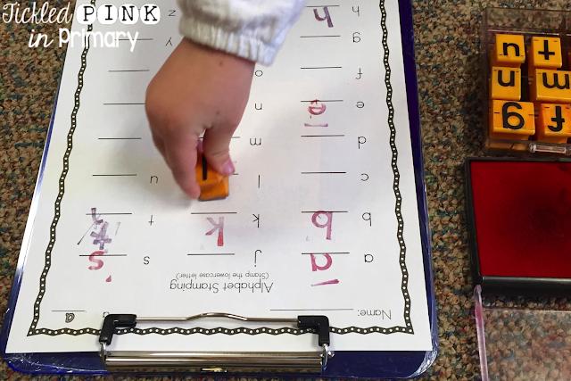 Kindergarten Stamping Center - Worksheet for Stamping