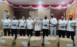 Bupati Pimpin Rakor Implementasi Perbup Covid19 dan Bagikan Ribuan Masker