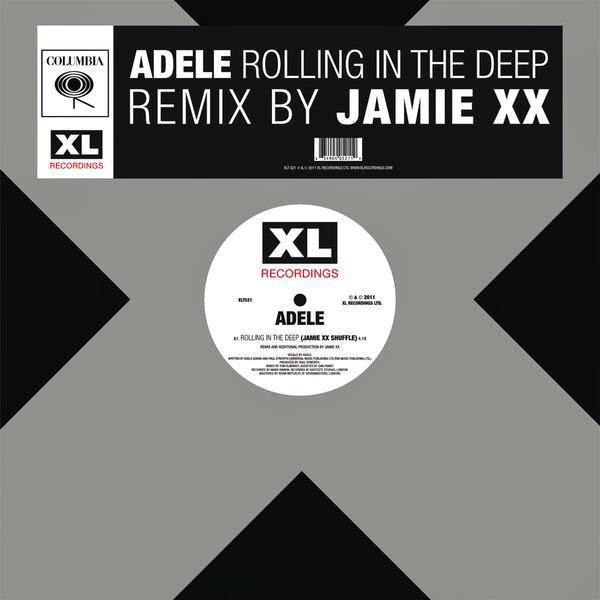 Adele - Rolling In the Deep (Jamie xx Edit) - Single Cover