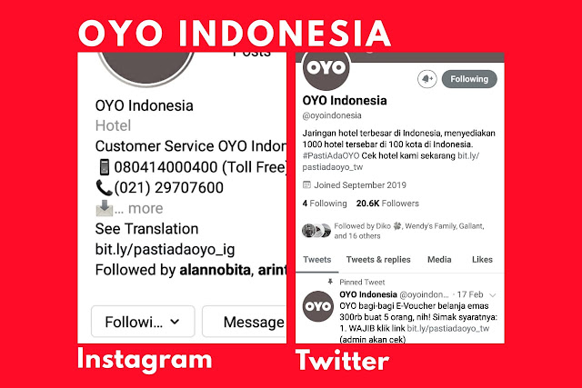 Social Media OYO Indonesia