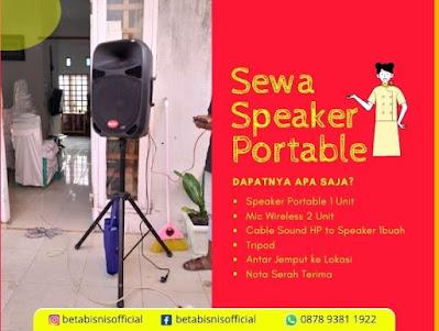 Sewa speaker portable mic wireless pekanbaru
