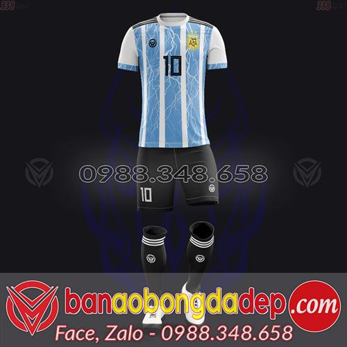 Áo Đội Tuyển Đặt May Theo Yêu Cầu - Mã ARGENTINA-04