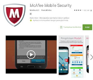 McAfee Mobile Security untuk android