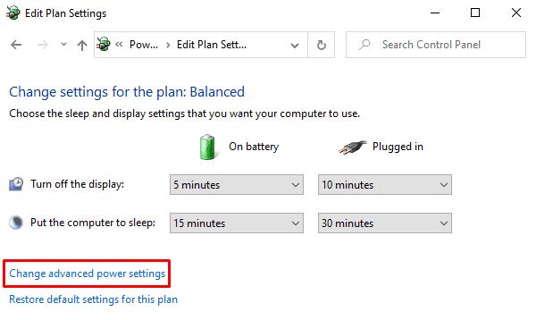 Cara mengubah Laptop Open Action di Windows 10