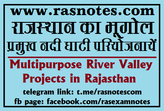 Interstate Multipurpose River Valley Projects in Rajasthan