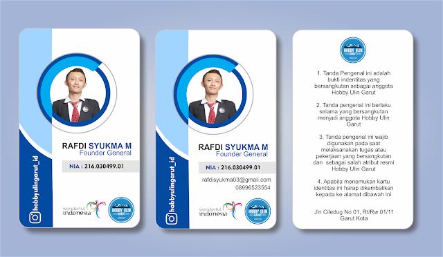 belajarnyata.com - Desain kartu nama atau Desain ID Card Keren Untuk Panitia Format CDR Gratis Download