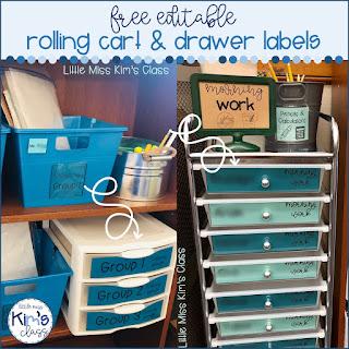 Editable Rolling Cart Labels