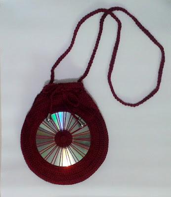 Bolsa de crochê com CD Vestimentarte