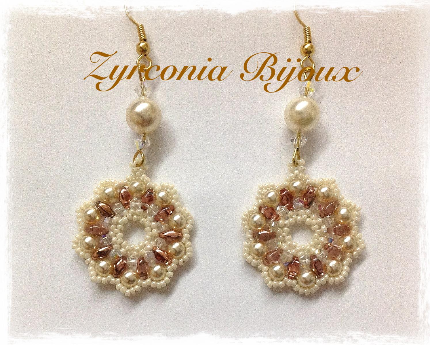 Amato Zyrconia Bijoux: Patterns Beads: Schemi perline: Tutorial  JE72