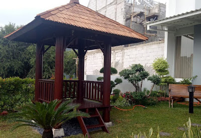 model gazebo taman untuk rumah modern dan minimalis