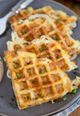 EGG & CHEESE HASH BROWN WAFFLES RECIPE FOR BREAKFAST