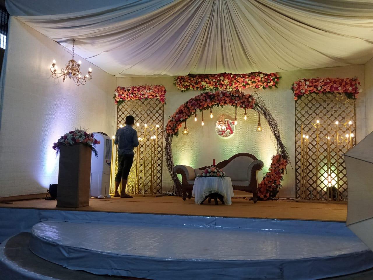 wedding stage decoration kerala