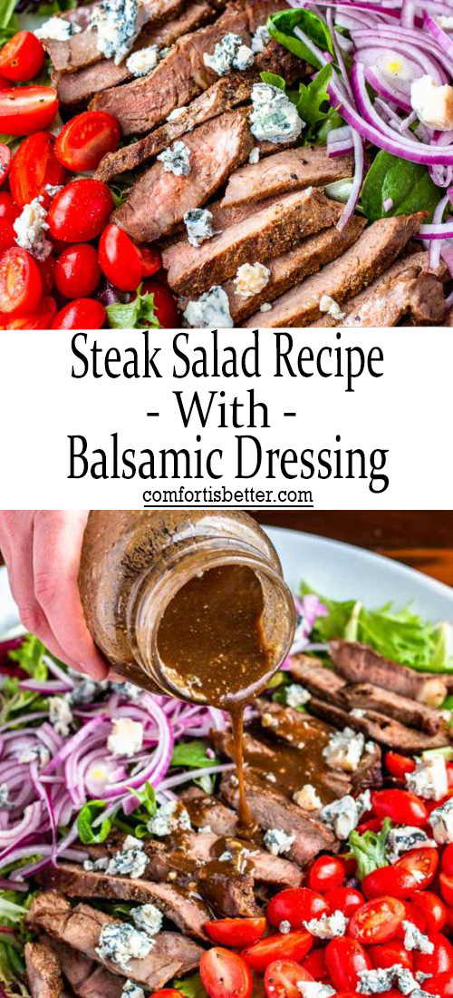 Steak Salad Recipe with Balsamic Dressing