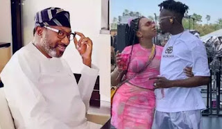 'Take It Eazi With My Angel' – Father Of Mr Eazi's Girlfriend Otedola Begs