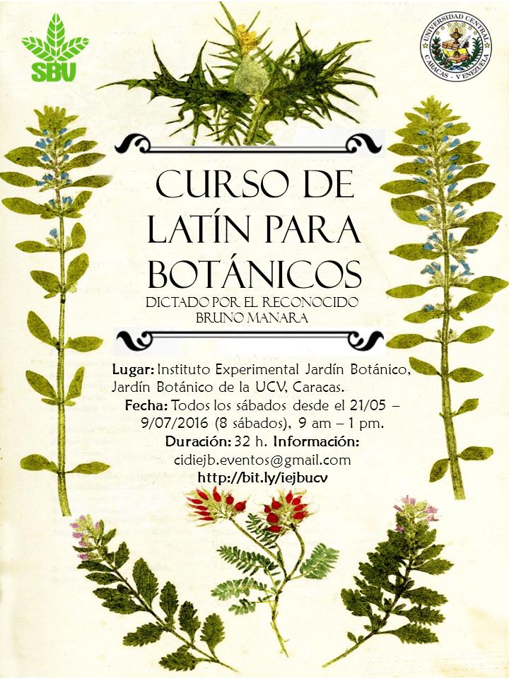 Centro de investigaci n y desarrollo instituto for Cursos jardin botanico 2016