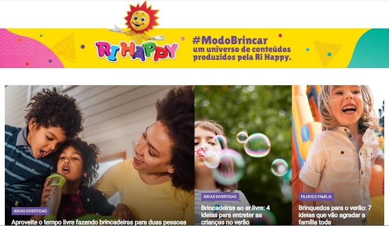 Ri Happy cria blog para os pais com conteúdo educativo relacionado ao brincar e parceria com especialistas