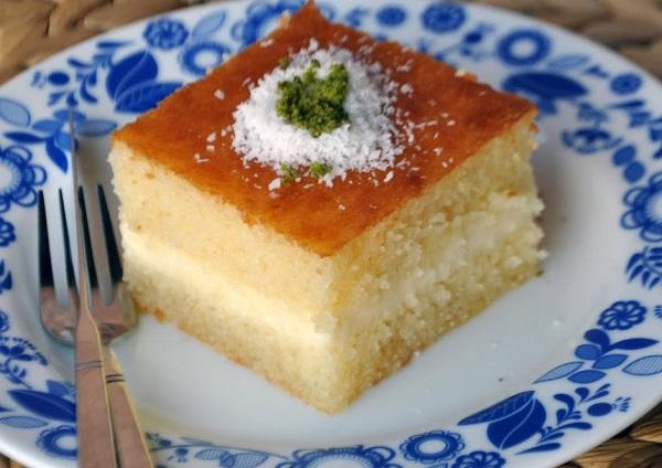 How to work Turkish basbousa with cream