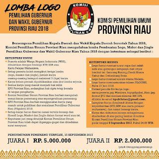 Lomba Logo Pemilihan Gubernur dan Wakil Gubernur 2017 | KPU Provinsi Riau | Umum