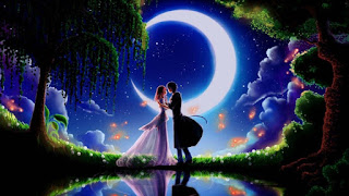 Good Night Image of Lovers