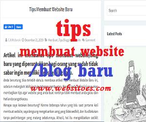 Tips Membuat Website Baru