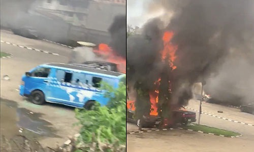 #EndSARS: Sanwo-Olu mother's house set ablaze, TVC under attack