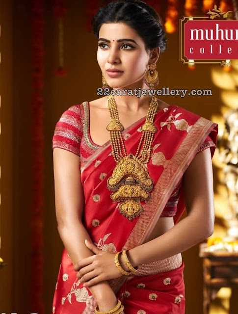 Samantha in Nakshi and Temple Jewellery