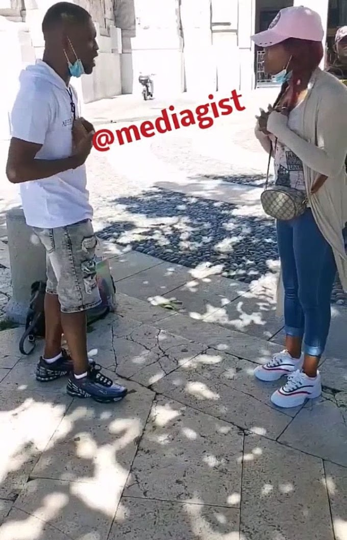 Lady angrily walks out on lover, rejects his proposal because he refused to kneel down (Video)