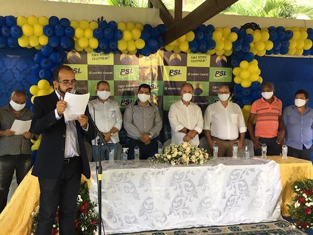 AO VIVO – PSL realiza convenção e apresentará Zé Mauro Chaves e Everton Gás de Frexeiras para a prefeitura de Escada