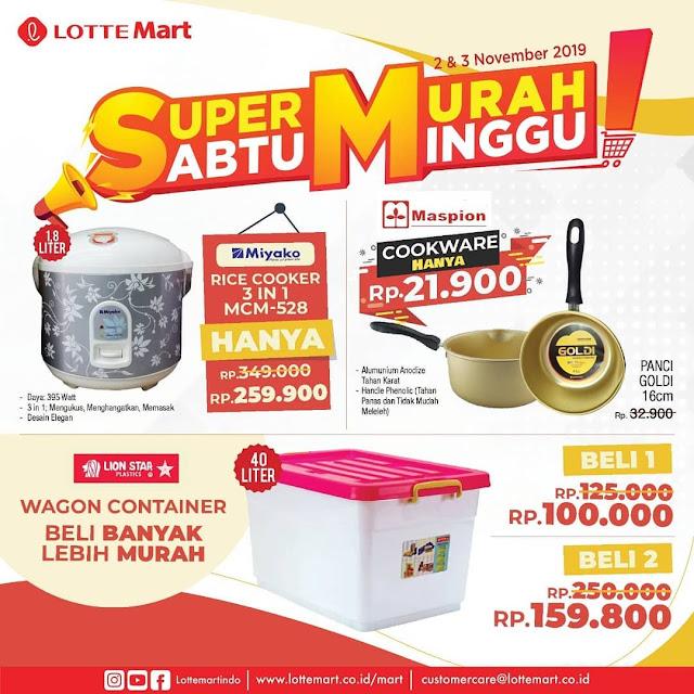 #LotteMart - #Promo Spesial Perlengkapan Rumah, Dapur & Mainan (s.d 30 Nov 2019)