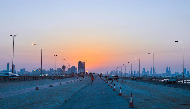 Gambar Pemandangan sore hari di Negara Bahrein