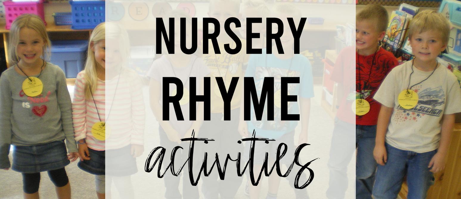 Nursery Rhymes literacy and math activities unit and Nursery Rhyme Olympics for Kindergarten