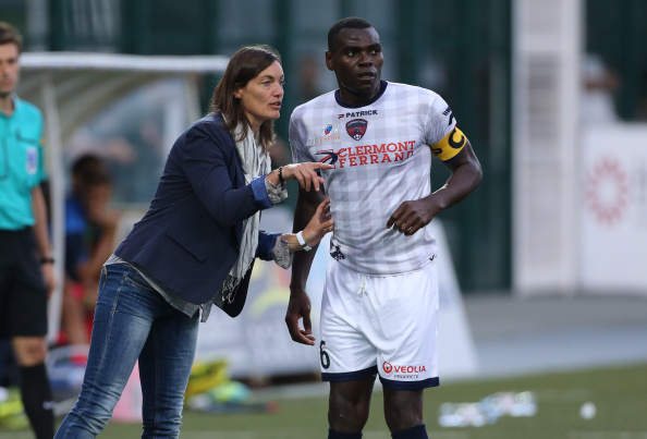 Corinne Diacre pelatih kepala klub Ligue 2 Prancis Clermont Foot