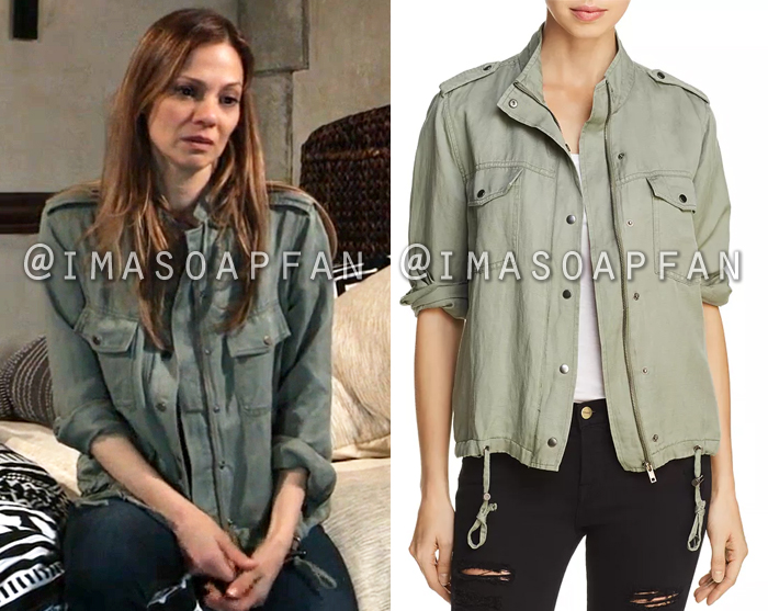 Kim Nero, Tamara Braun, Army Green Military Jacket, General Hospital, GH